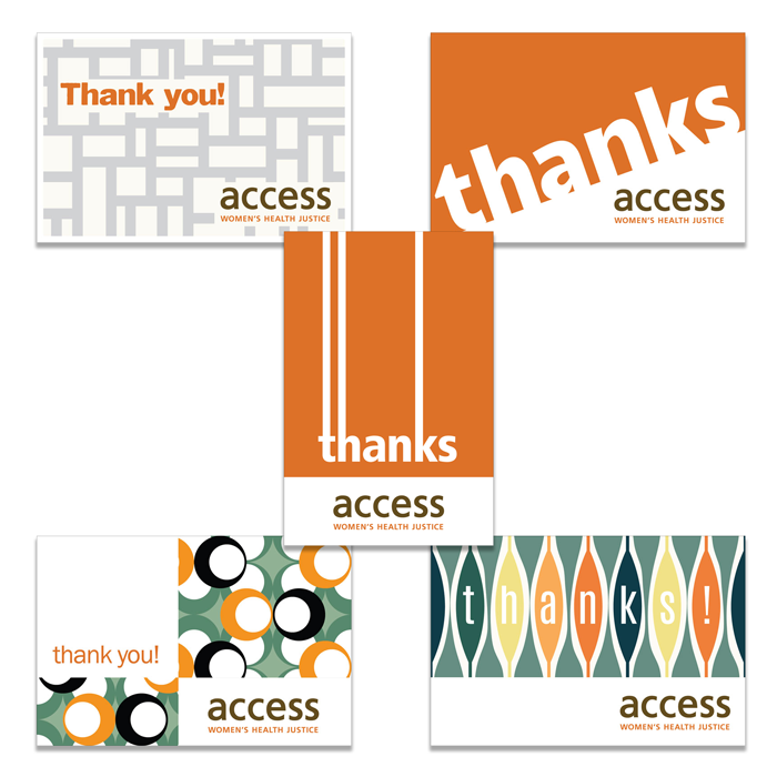 ACCESS: Women's Health Justice thank-you cards