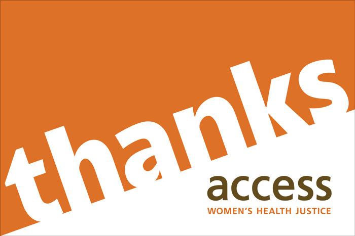 ACCESS Women's Health Justice thank-you card 5