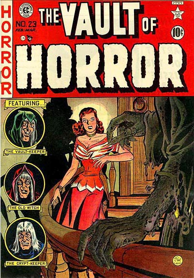 """""""The Vault of Horror"""" comic book cover"""