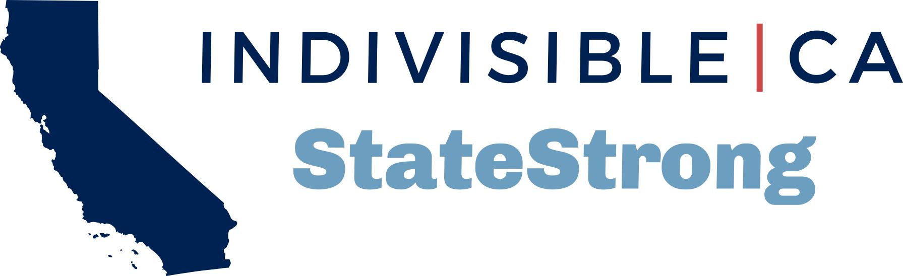 Indivisible CA: StateStrong logo
