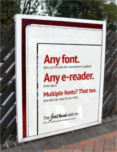 Any font on your e-reader