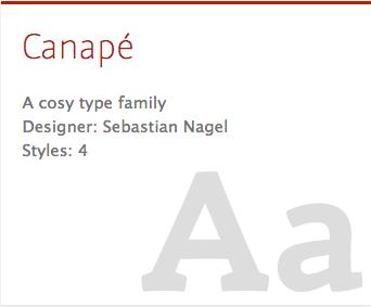 """""""Canapé"""" typeface"""
