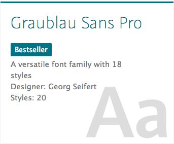 """""""Grablau Sans Pro"""" typeface"""