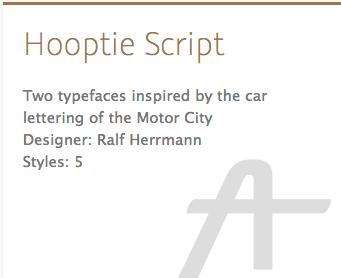 """""""Hooptie Script"""" typeface"""