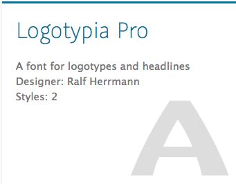 """""""Logotypia Pro"""" typeface"""