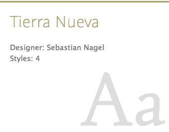 """""""Tierra Nueva"""" typeface"""