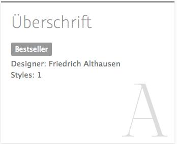 """Uberschrift"" typeface"
