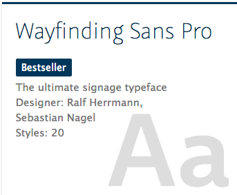 """Wayfinding Sans Pro"" typeface"