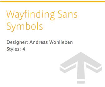 """Wayfinding Sans Symbols"" typeface"